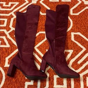 Wine Colored Wild Diva Knee Boots size 8 NEW